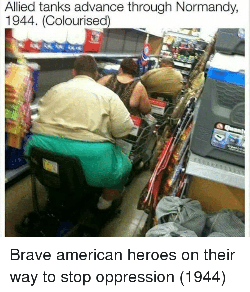 normandy: Allied tanks advance through Normandy,  1944. (Colourised) Brave american heroes on their way to stop oppression (1944)