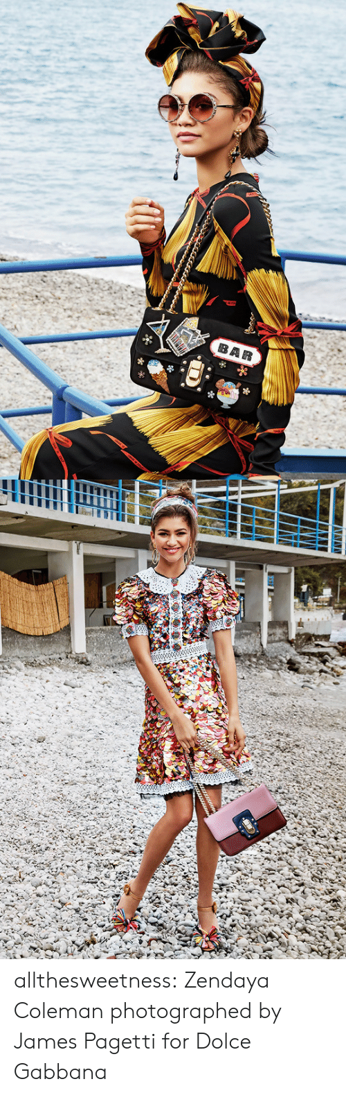 dolce: allthesweetness:  Zendaya Coleman photographed by James Pagetti for Dolce  Gabbana