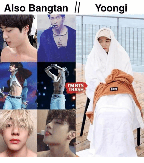 Trash, Bts, and Bangtan: Also Bangtan || Yoongi  I'M BTS  TRASH  BT21  -