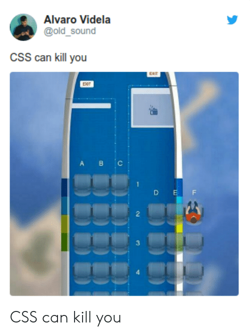 Old, Css, and Can: Alvaro Videla  @old_sound  cSS can kill you  A BC  D  E  F  3  HBB CSS can kill you