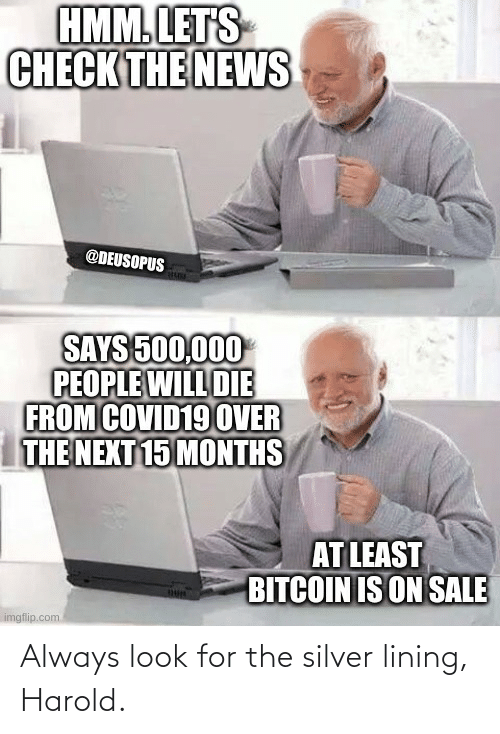 Bitcoin: Always look for the silver lining, Harold.
