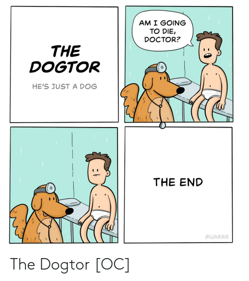 Doctor, Dog, and The End: AM I GOING  TO DIE,  DOCTOR?  THE  DOGTOR  HE'S JUST A DOG  THE END  0  @UARRR The Dogtor [OC]