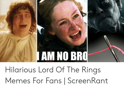 Funny Lord Of The Rings: AM NO BF Hilarious Lord Of The Rings Memes For Fans | ScreenRant