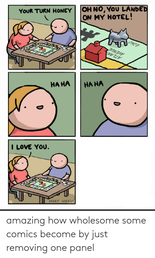 Wholesome: amazing how wholesome some comics become by just removing one panel
