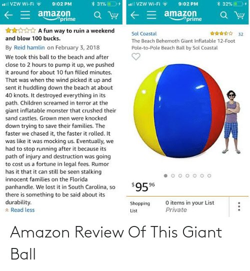 Giant: Amazon Review Of This Giant Ball