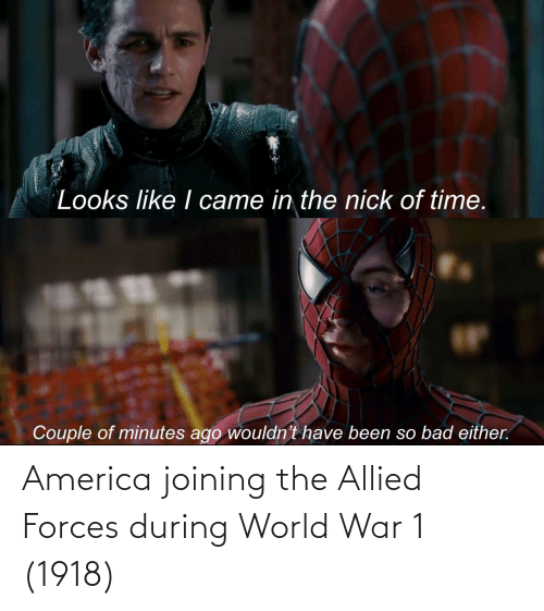 world war 1: America joining the Allied Forces during World War 1 (1918)