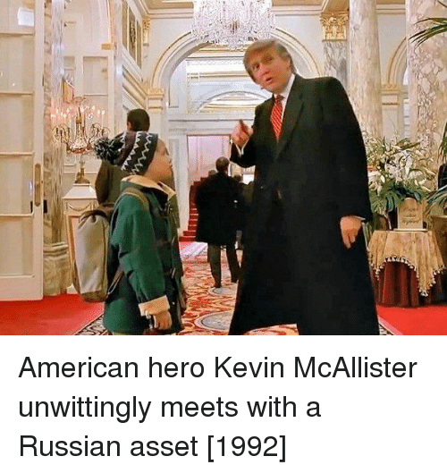 asset: American hero Kevin McAllister unwittingly meets with a Russian asset [1992]