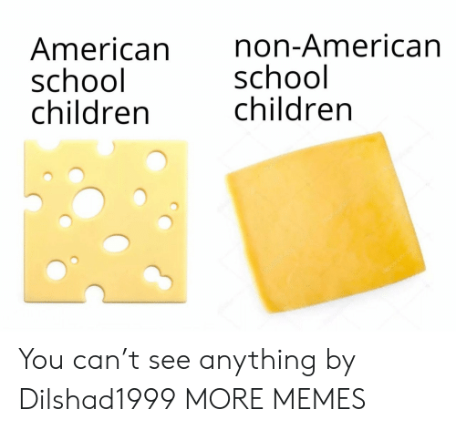 T See: American  school  children  non-American  school  children  depotonota You can't see anything by Dilshad1999 MORE MEMES
