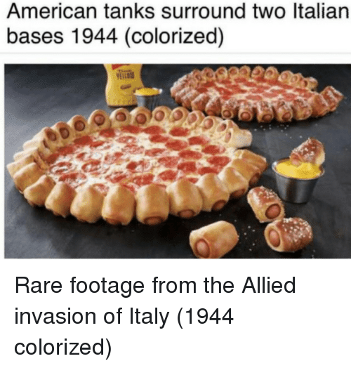 tanks: American tanks surround two ltalian  bases 1944 (colorized) Rare footage from the Allied invasion of Italy (1944 colorized)