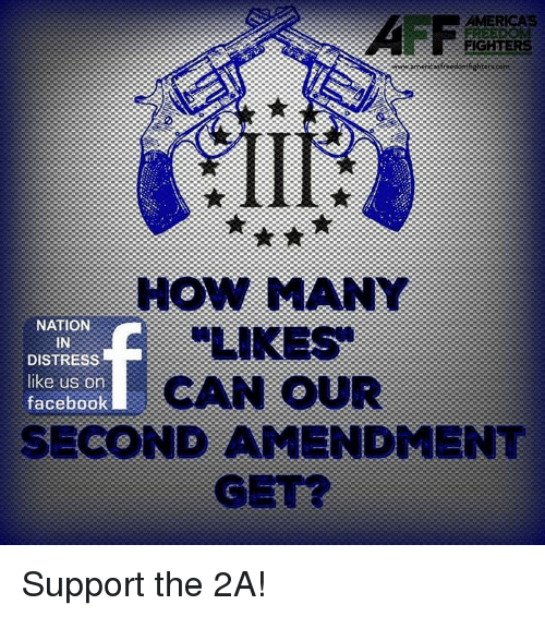 Distression: AMERICAS  AFF  FIGHTERS  HOW MANY  NATION  IN  DISTRESS  like us on  facebook  CAN oUR  SECOND AMENDMENT  GE Support the 2A!