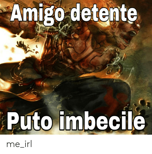 Irl, Me IRL, and Imbecile: Amigo detente  Puto imbecile me_irl
