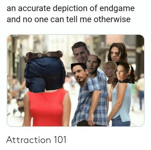 depiction: an accurate depiction of endgame  and no one can tell me otherwise Attraction 101