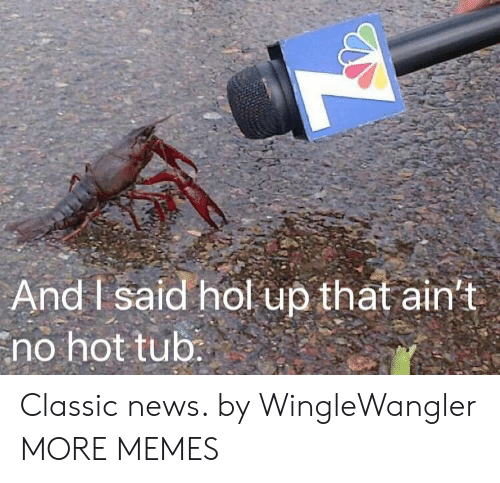 Dank, Memes, and News: And I said hol up that ain't  no hot tub Classic news. by WingleWangler MORE MEMES