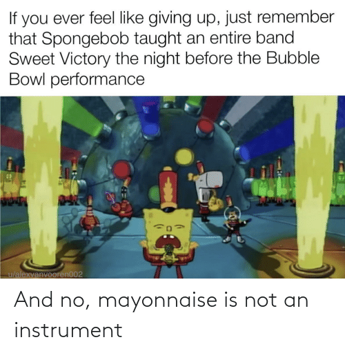 Is Not: And no, mayonnaise is not an instrument