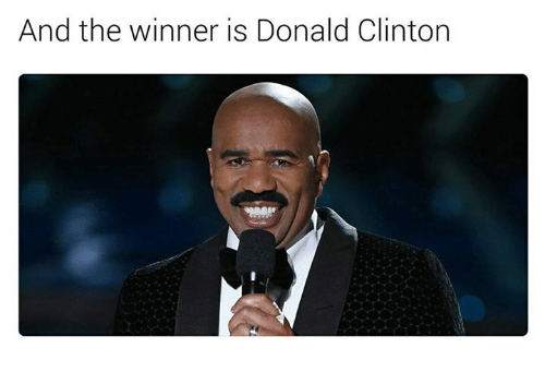 The Winner Is: And the winner is Donald Clinton