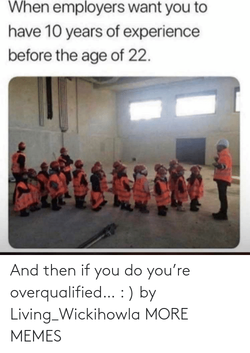 You Do You: And then if you do you're overqualified… : ) by Living_Wickihowla MORE MEMES