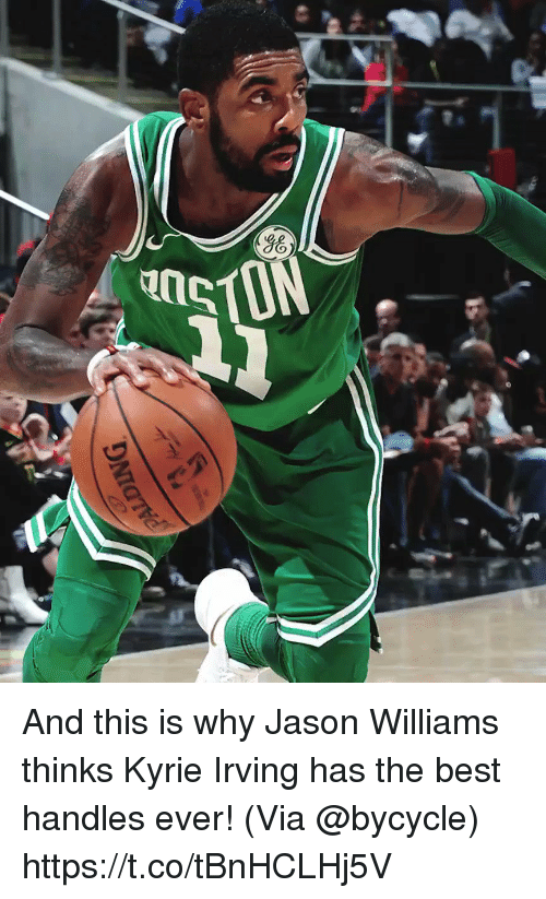 Kyrie Irving, Memes, and Best: And this is why Jason Williams thinks Kyrie Irving has the best handles ever!   (Via @bycycle) https://t.co/tBnHCLHj5V