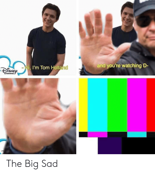 tom holland: and you're watching D-  I'm Tom Holland  DSNE  CHANNEL The Big Sad