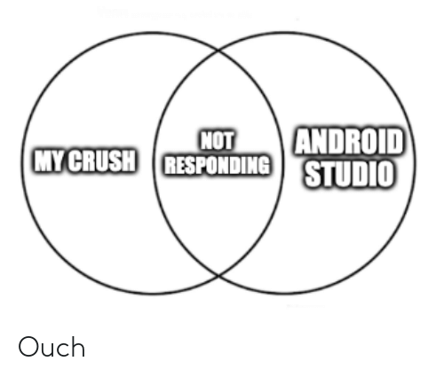 Responding: ANDROID  NOT  MY CRUSH RESPONDING STUDIO Ouch