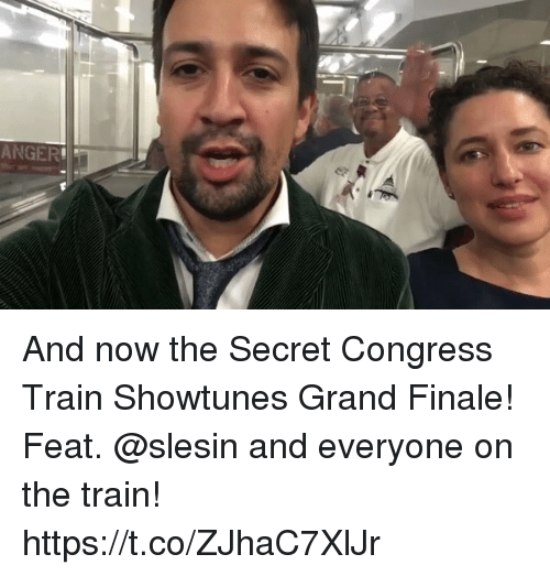 secrete: ANGER And now the Secret Congress Train Showtunes Grand Finale! Feat. @slesin and everyone on the train! https://t.co/ZJhaC7XlJr