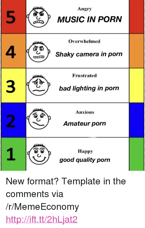 """4 3 2: Angry  5  4  3  2  MUSIC IN PORN  Overwhelmed  Shaky camera in porn  Frustrated  bad lighting in porn  Anxious  Amateur porn  Happy  good quality pon <p>New format? Template in the comments via /r/MemeEconomy <a href=""""http://ift.tt/2hLjat2"""">http://ift.tt/2hLjat2</a></p>"""
