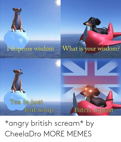 Scream: *angry british scream* by CheelaDro MORE MEMES