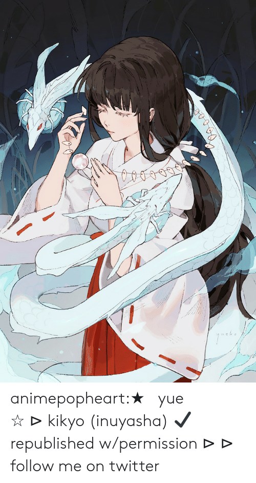 Target, Tumblr, and Twitter: animepopheart:★ 【yue】 「桔梗」 ☆ ⊳ kikyo (inuyasha) ✔ republished w/permission ⊳ ⊳ follow me on twitter