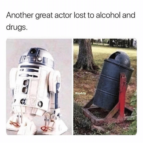 great actor: Another great actor lost to alcohol and  drugs.  Gpubity