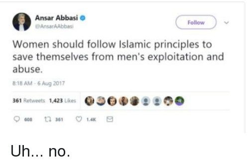why should we follow islam Why should a person only follow islam can he not follow any of the religions  1 major difference between islam and most other religions all religions basically exhort mankind to be righteous and eschew evil but islam goes beyond that it guides us towards practical ways of achieving.