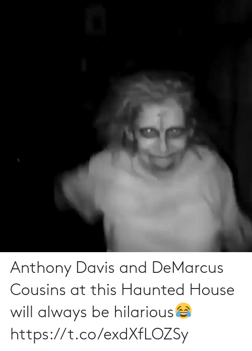 Anthony: Anthony Davis and DeMarcus Cousins at this Haunted House will always be hilarious😂 https://t.co/exdXfLOZSy