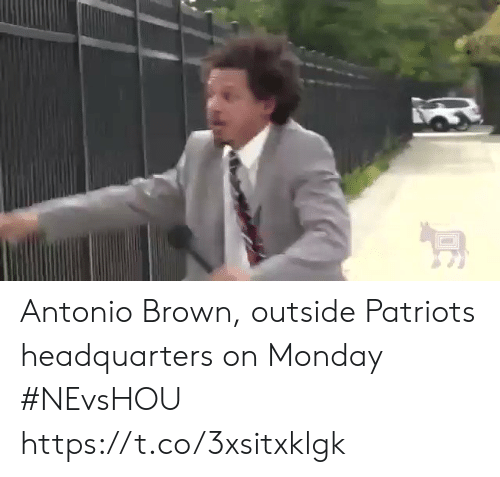 Antonio Brown: Antonio Brown, outside Patriots headquarters on Monday #NEvsHOU https://t.co/3xsitxklgk
