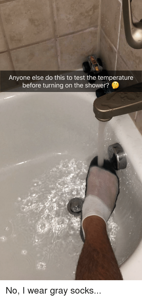 Reddit, Shower, and Test: Anyone else do this to test the temperature  before turning on the shower?