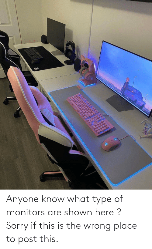 Shown: Anyone know what type of monitors are shown here ? Sorry if this is the wrong place to post this.