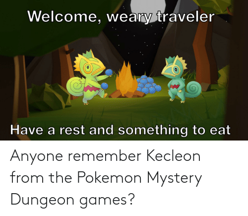 pokemon mystery dungeon: Anyone remember Kecleon from the Pokemon Mystery Dungeon games?