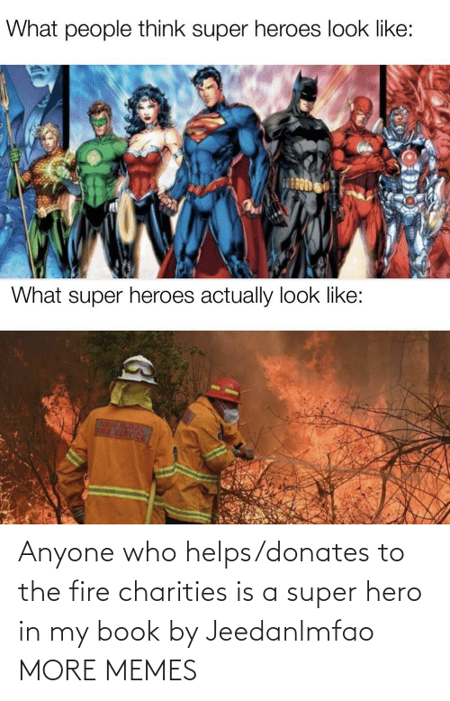 The Fire: Anyone who helps/donates to the fire charities is a super hero in my book by Jeedanlmfao MORE MEMES