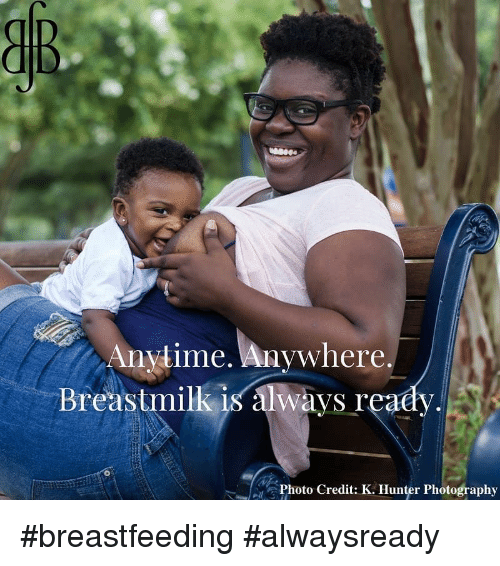 Anytime Anywhere: Anytime. Anywhere.  Breastmilk is always reaey,  Photo Credit: K. Hunter Photography #breastfeeding #alwaysready