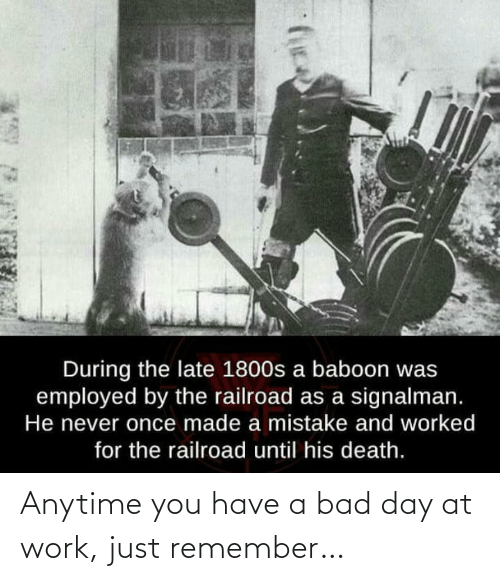 Bad day: Anytime you have a bad day at work, just remember…