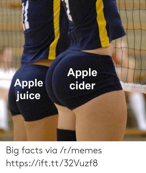 Apple, Facts, and Juice: Apple  cider  Apple  juice Big facts via /r/memes https://ift.tt/32Vuzf8