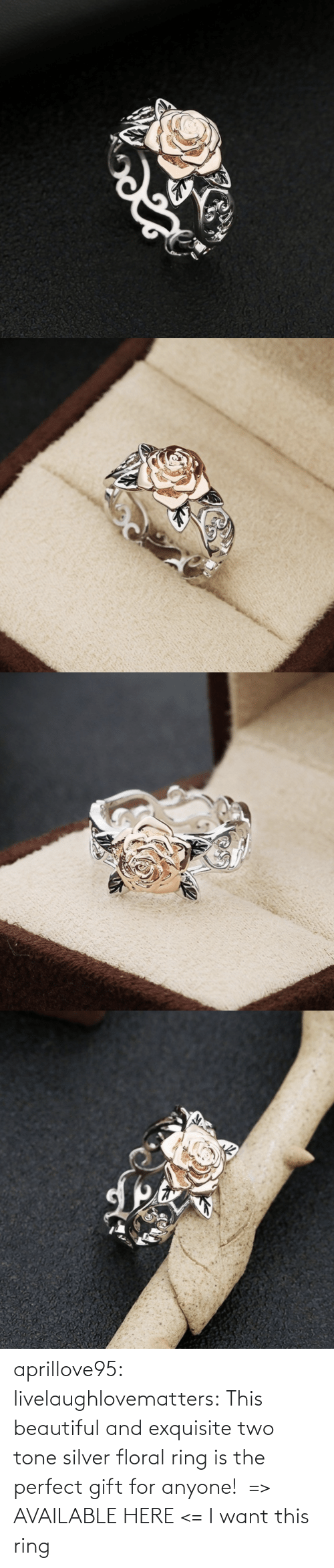 The Perfect: aprillove95:  livelaughlovematters:  This beautiful and exquisite two tone silver floral ring is the perfect gift for anyone!  => AVAILABLE HERE <=    I want this ring
