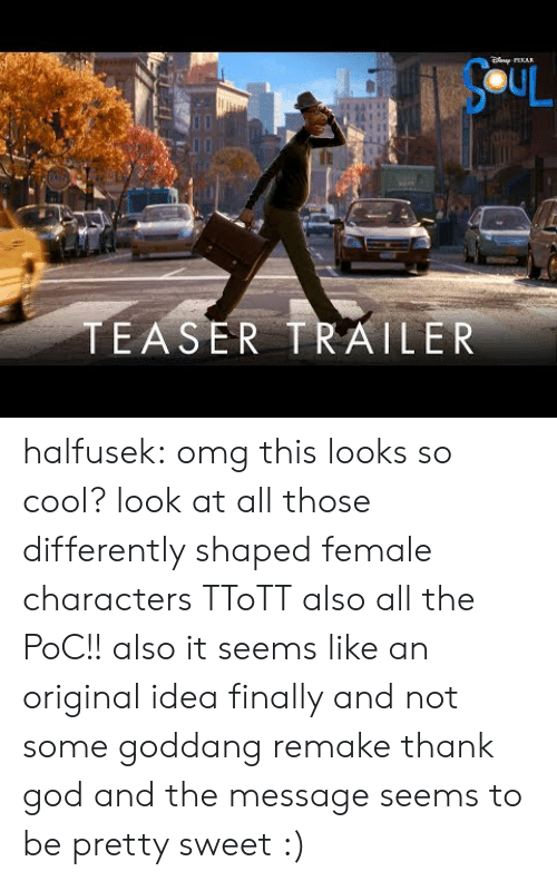 teaser: AR  SCUL  TEASER TRAILER halfusek: omg this looks so cool? look at all those differently shaped female characters TToTT also all the PoC!! also it seems like an original idea finally and not some goddang remake thank god and the message seems to be pretty sweet :)