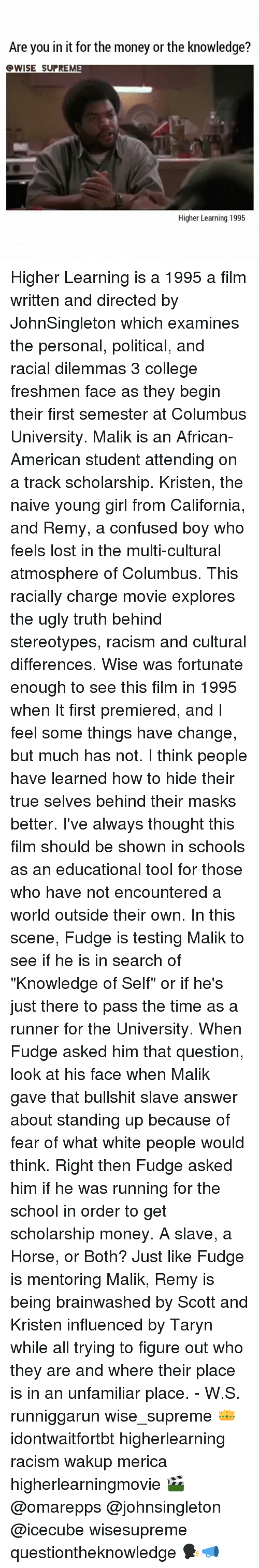 racism and white supremacy in the film higher learning