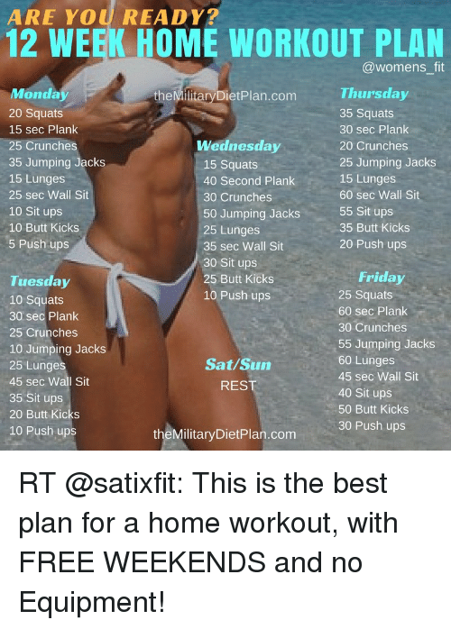 ARE YOU READY? 12 WEEK HOME WORKOUT a Womens Fit Thursday