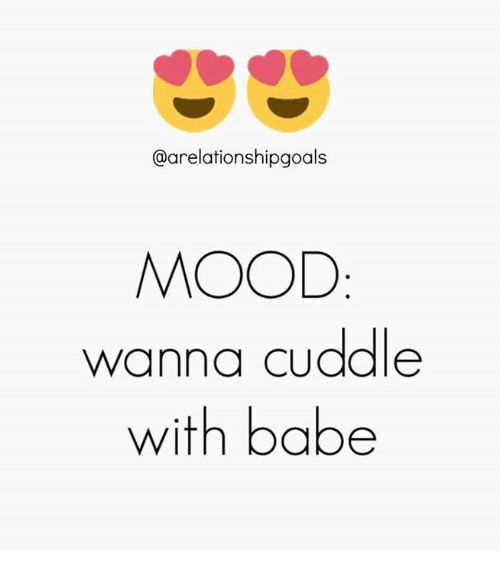 Memes, 🤖, and Wanna: @arelationshipgoals  MOOD  wanna Cuddle  with babe