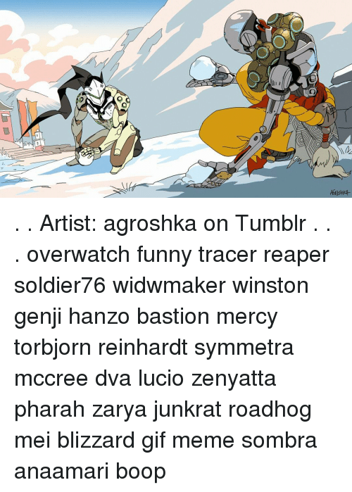 Artist Agroshka On Tumblr Overwatch Funny Tracer Reaper Soldier76