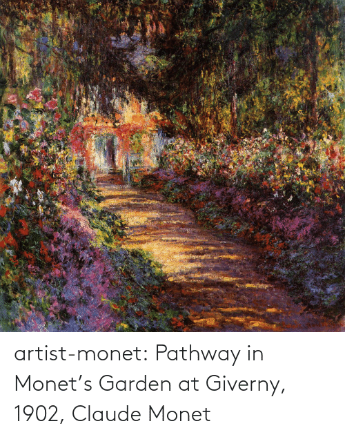 Artist: artist-monet:  Pathway in Monet's Garden at Giverny, 1902, Claude Monet