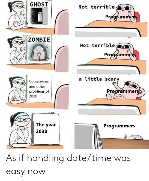 now: As if handling date/time was easy now
