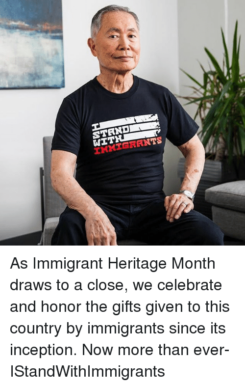 Inception, Memes, and 🤖: As Immigrant Heritage Month draws to a close, we celebrate and honor the gifts given to this country by immigrants since its inception. Now more than ever- IStandWithImmigrants