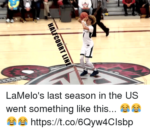 Memes, 🤖, and This: AS LaMelo's last season in the US went something like this... 😂😂😂😂 https://t.co/6Qyw4CIsbp