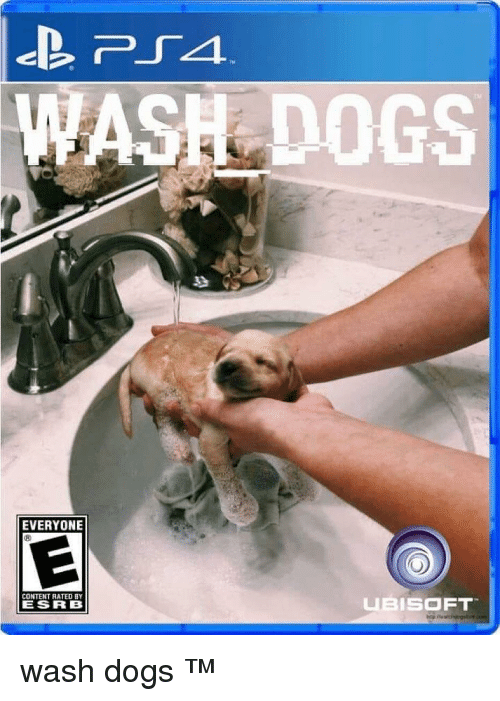 esrb: ASH DOGS  EVERYONE  CONTENT RATED BY  ESRB  FT wash dogs ™