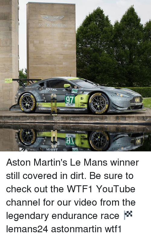 iff: ASTON WARTIN  TOTAL  PRO  97  CCEC  IFF Aston Martin's Le Mans winner still covered in dirt. Be sure to check out the WTF1 YouTube channel for our video from the legendary endurance race 🏁 lemans24 astonmartin wtf1